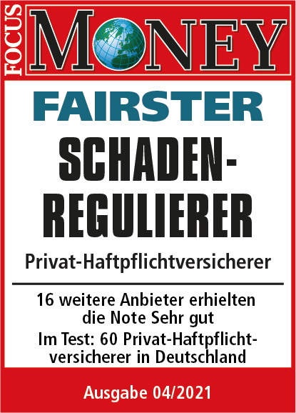 PrivatHaftpflicht - Focus Money Fairster Schadenregulierer