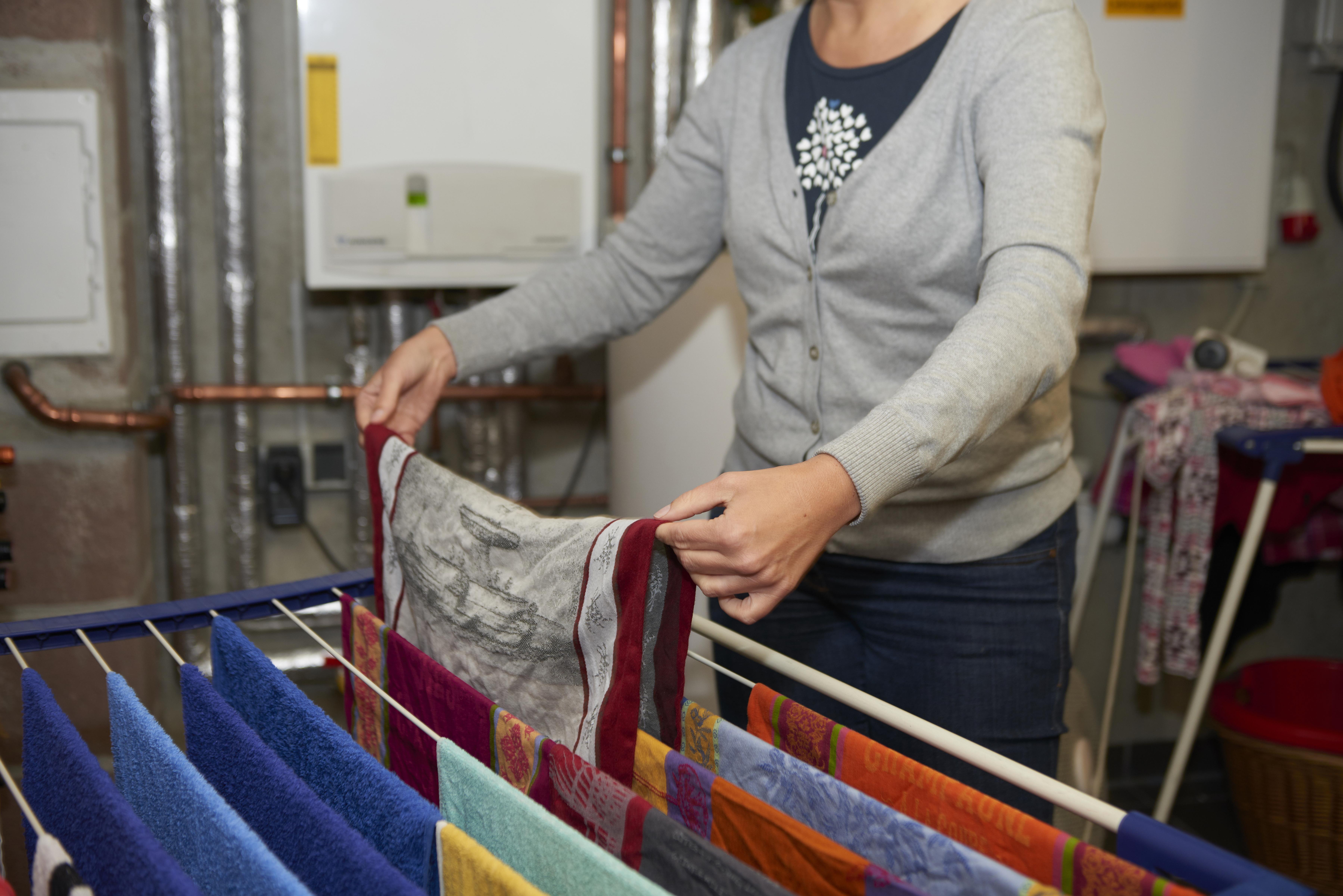 Wäsche trocknen im Heizungskeller: schlecht für die Anlage und den ...