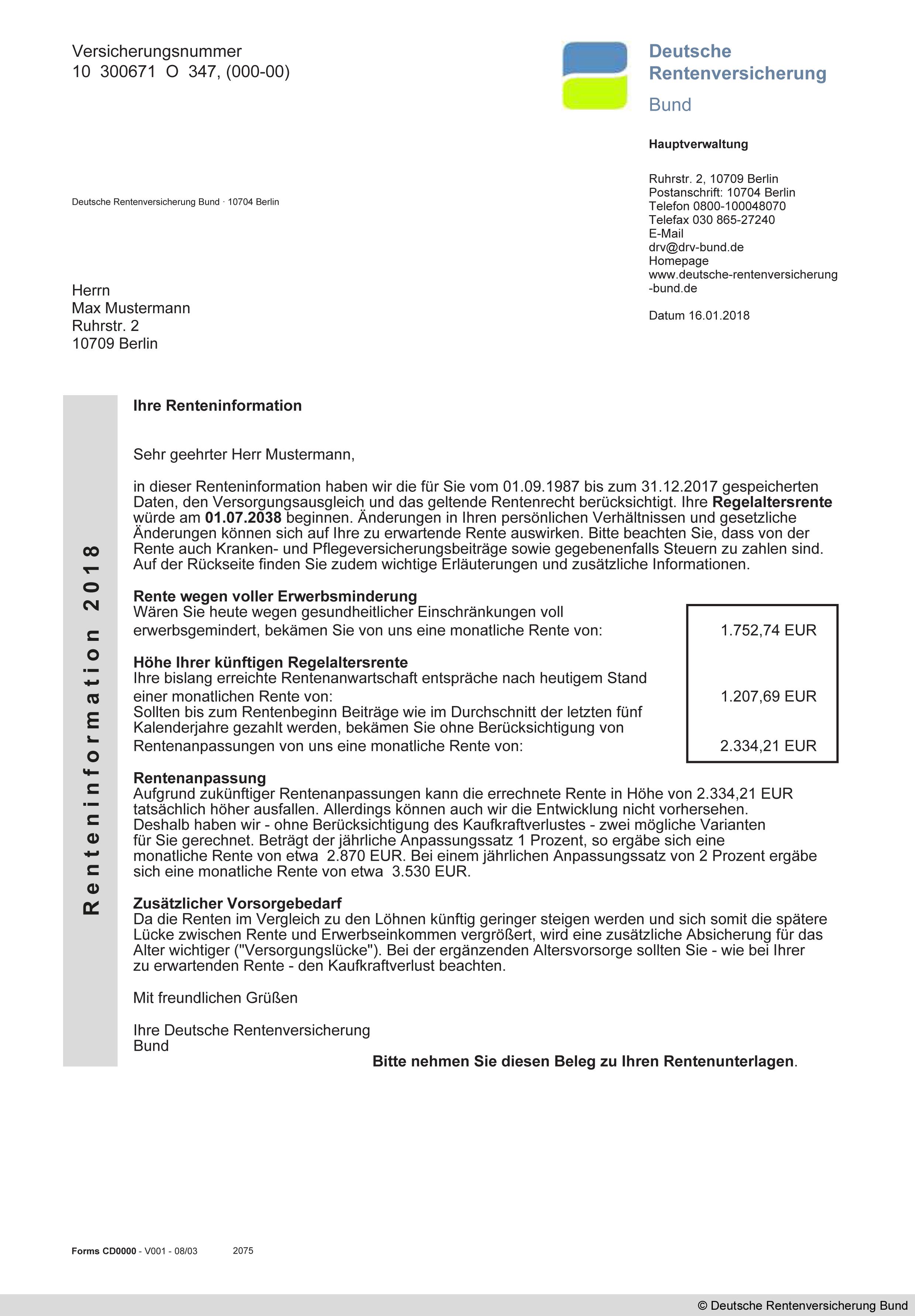 deutsche rentenversicherung bund 10704 berlin